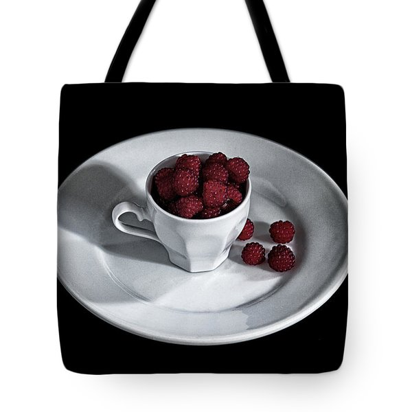 Ruspberries In The Cup - Livid Still-life Tote Bag