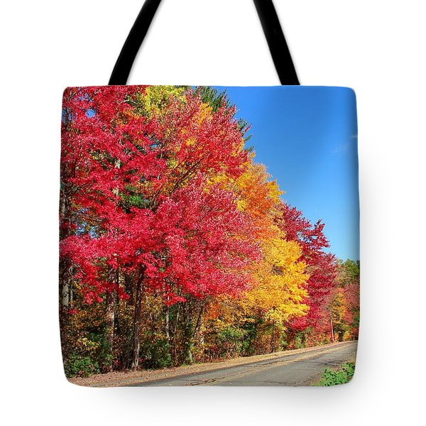 Tote Bag featuring the photograph Russellville Road Fall Colors by Sven Kielhorn