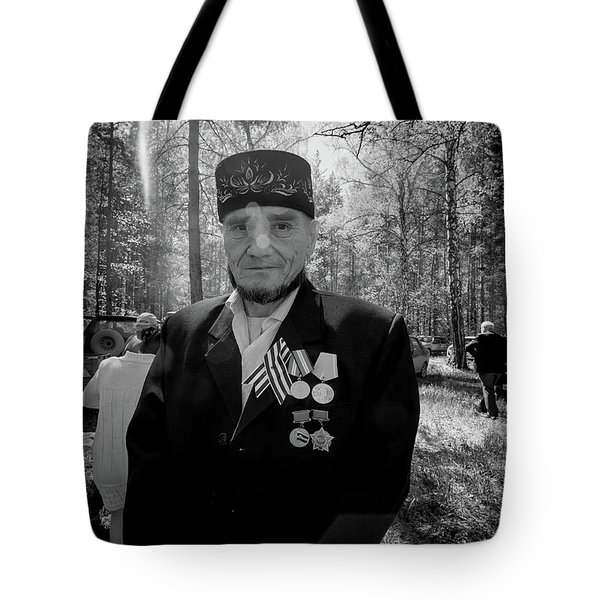 Tote Bag featuring the photograph Russian Afghanistan War Veteran by John Williams