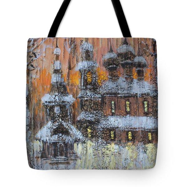 Russian Church Under Snow Tote Bag