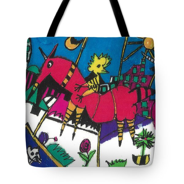 Tote Bag featuring the painting Russian Folkscene by Don Koester