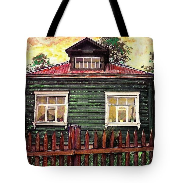 Russian House 2 Tote Bag by Sarah Loft