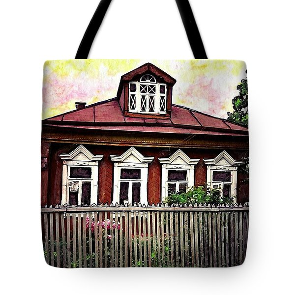 Russian House Tote Bag by Sarah Loft