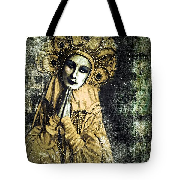 Tote Bag featuring the digital art Russian Icon by Delight Worthyn