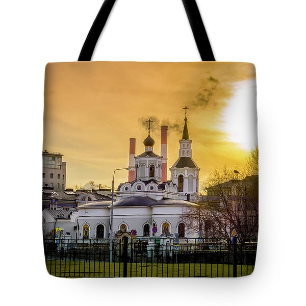 Tote Bag featuring the photograph Russian Ortodox Church In Moscow, Russia by Alexey Stiop