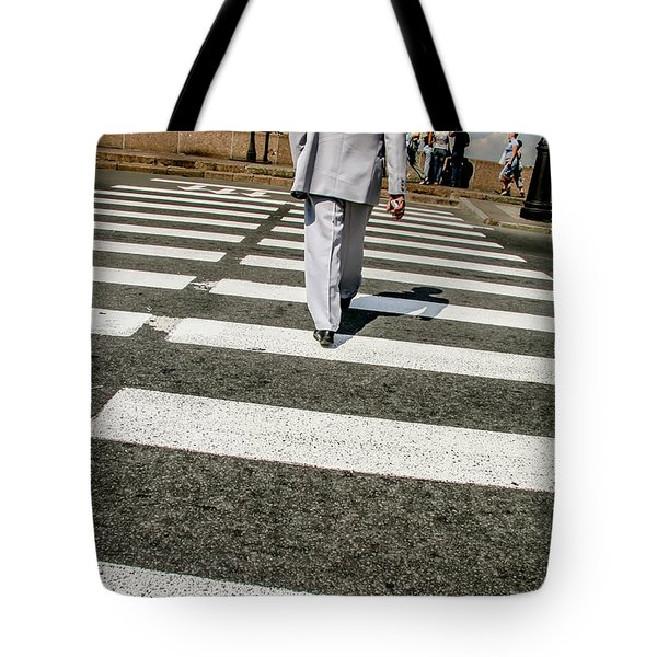 Tote Bag featuring the photograph Russian Street Crossing by KG Thienemann