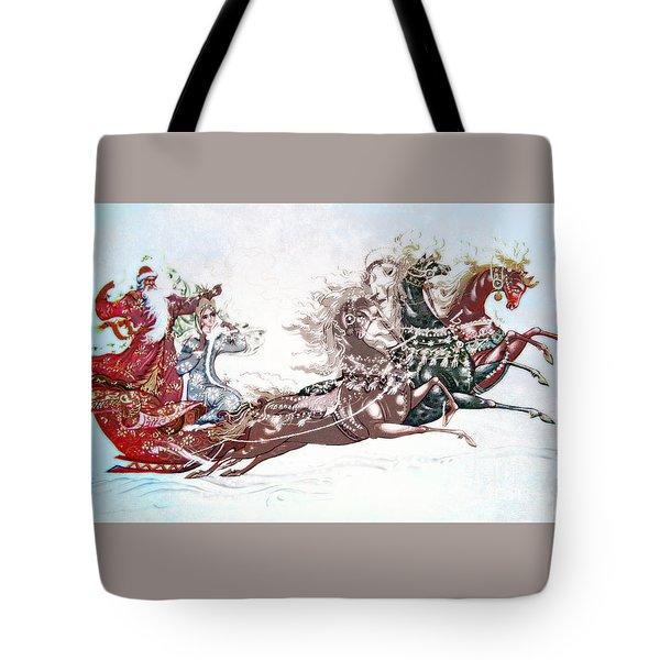 Russian Symbols Of New Year Tote Bag