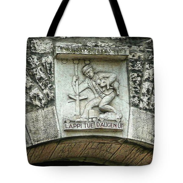 Tote Bag featuring the photograph Russian To Swiss Dialect Translation by Hanny Heim