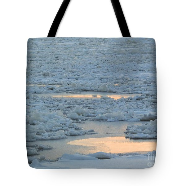 Russian Waterway Frozen Over Tote Bag