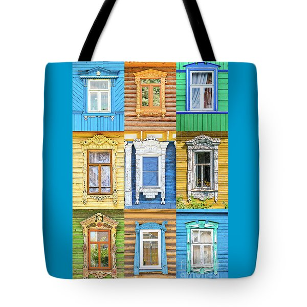 Tote Bag featuring the photograph Russian Windows by Delphimages Photo Creations