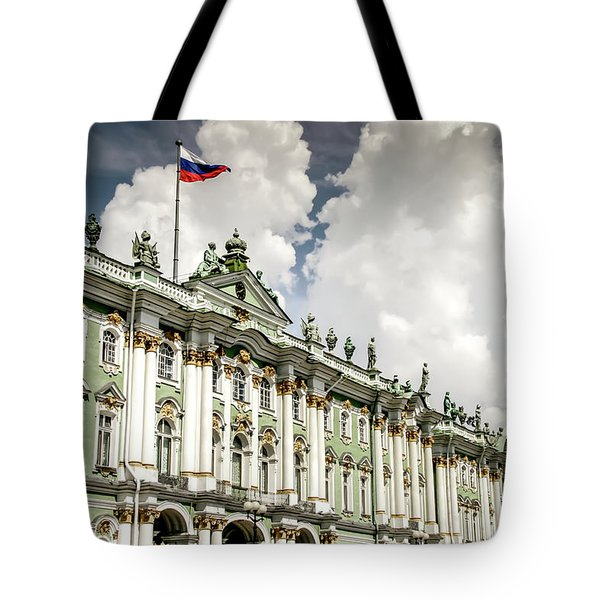 Tote Bag featuring the photograph Russian Winter Palace by KG Thienemann