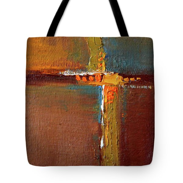Tote Bag featuring the painting Rust Abstract Painting by Nancy Merkle