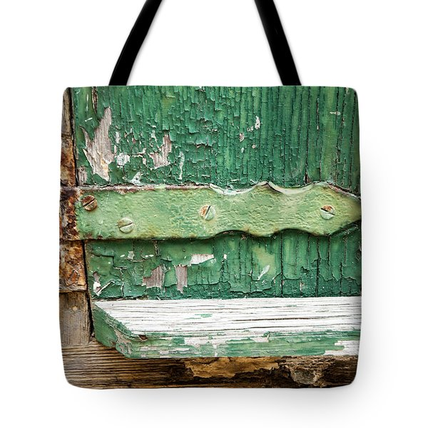 Tote Bag featuring the photograph Rust And Paint by Allen Carroll