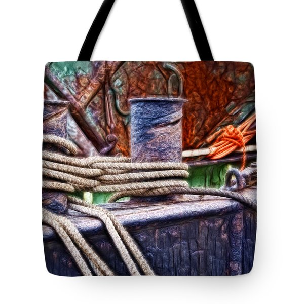 Rust And Rope Tote Bag