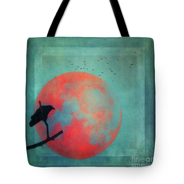 Rust Moon Tote Bag