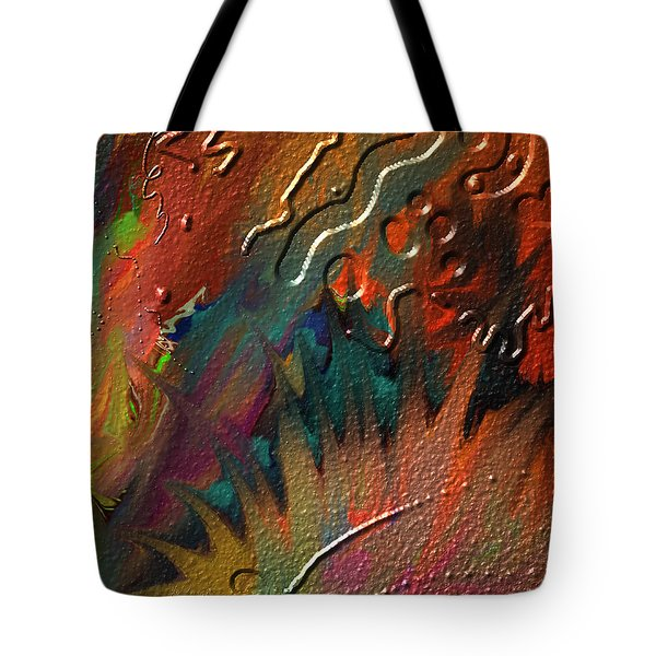 Tote Bag featuring the painting Rust Never Sleeps by Kevin Caudill