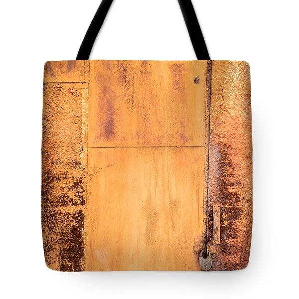 Rust On Metal Texture Tote Bag by John Williams