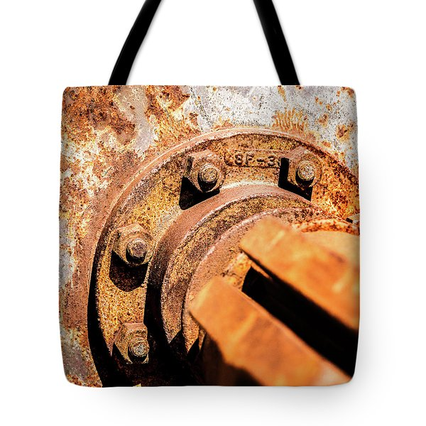 Tote Bag featuring the photograph Rust by Onyonet  Photo Studios