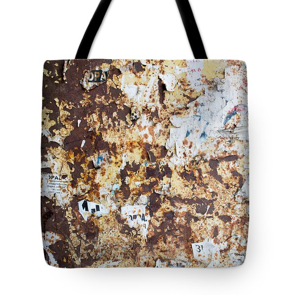 Tote Bag featuring the photograph Rust Paper Texture by John Williams