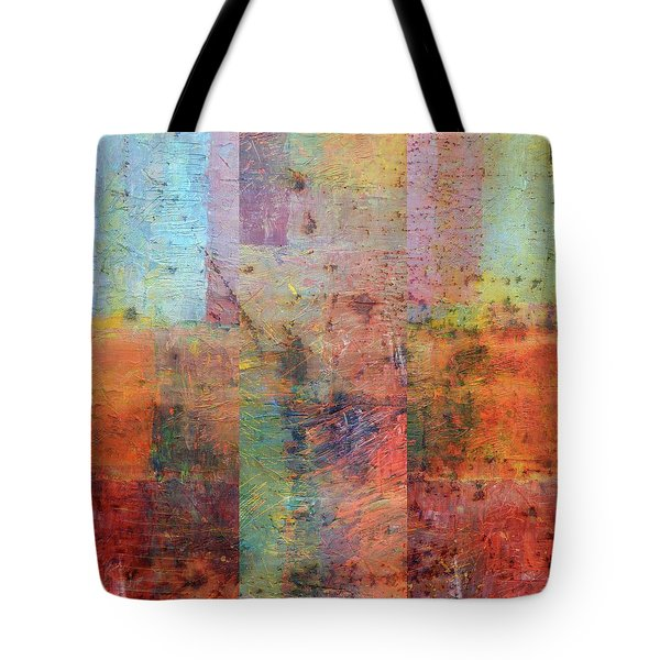 Tote Bag featuring the painting Rust Study 1.0 by Michelle Calkins