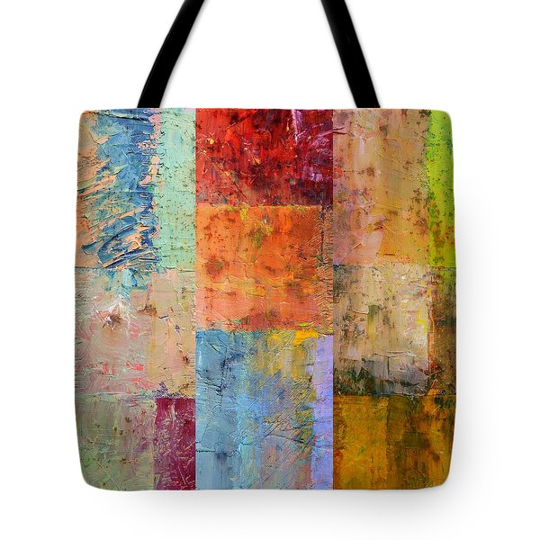 Tote Bag featuring the painting Rust Study 2.0 by Michelle Calkins
