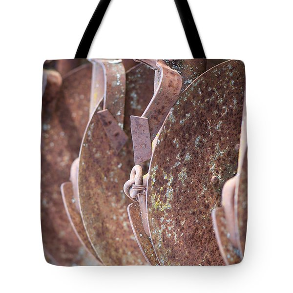 Rusted Blades Tote Bag by Lisa Knechtel