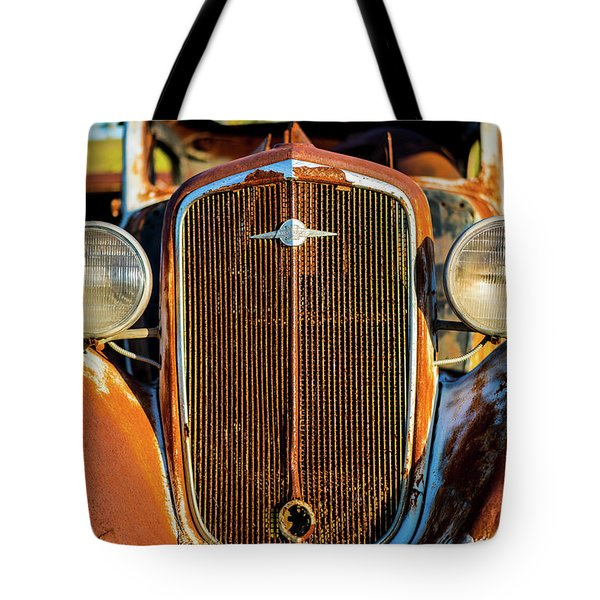 Rusted Chevrolet Tote Bag