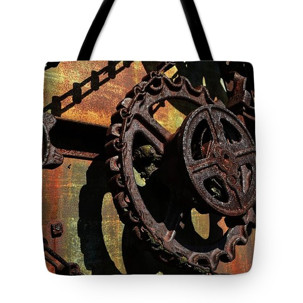 Rusted Gears Tote Bag