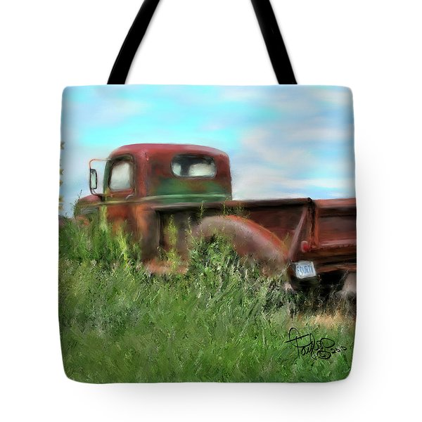 Rusted Not Retired Tote Bag