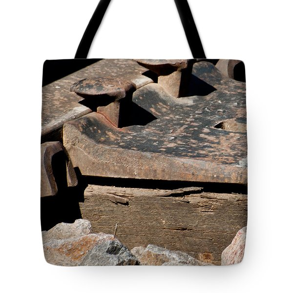 Rusted Rail Tote Bag by Colleen Coccia