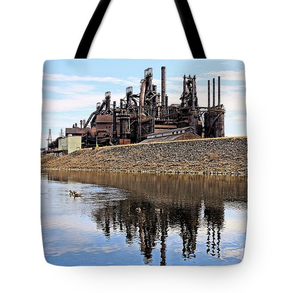 Rusted Relection Tote Bag