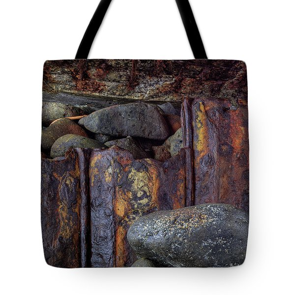 Rusted Stones 3 Tote Bag by Steve Siri