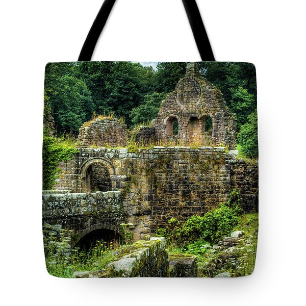 Tote Bag featuring the photograph Rustic Abbey Remains by Dennis Dame