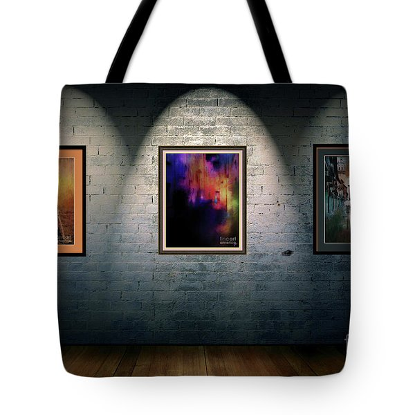 Tote Bag featuring the digital art Rustic Art Gallery by Jim  Hatch