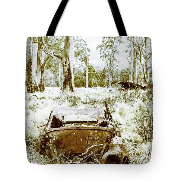 Rustic Australian Car Landscape Tote Bag