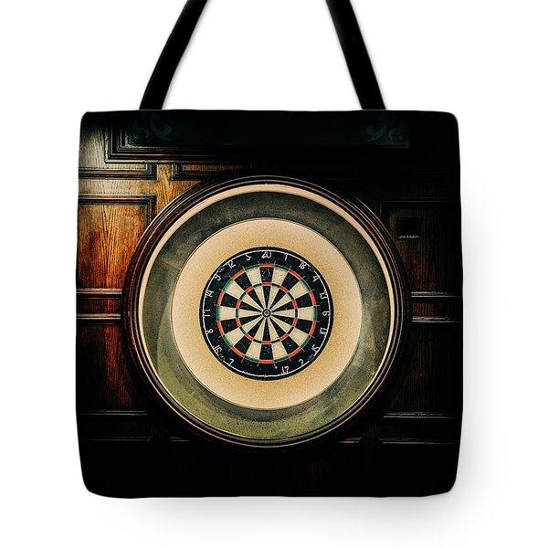 Rustic British Dartboard Tote Bag