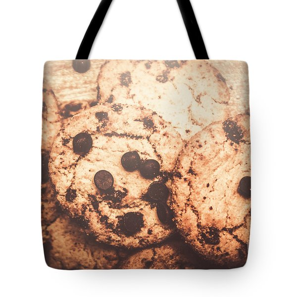 Rustic Chocolate Chip Cookie Snack Tote Bag