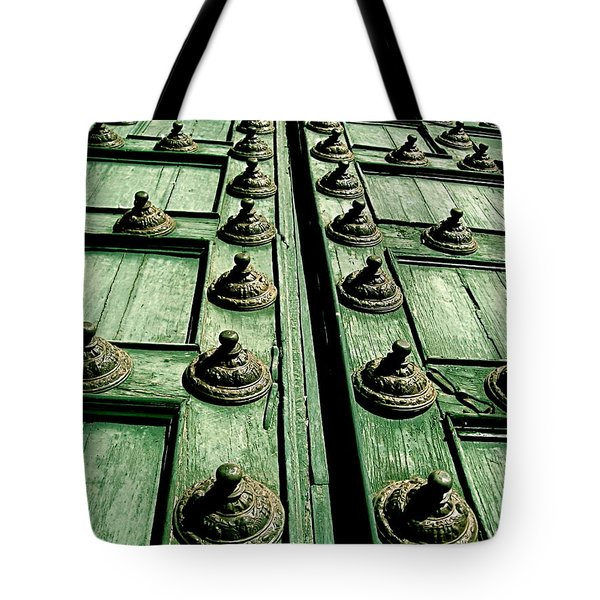 Rustic Church Door Tote Bag