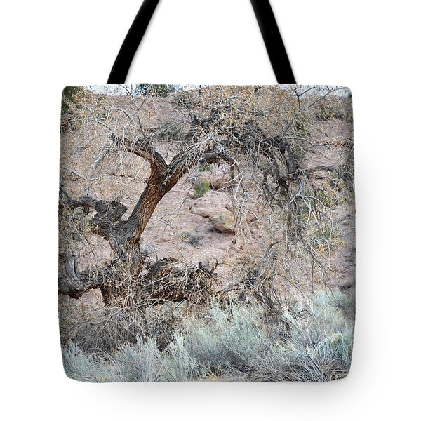 Tote Bag featuring the photograph Rustic Desert Tree by Andrea Hazel Ihlefeld