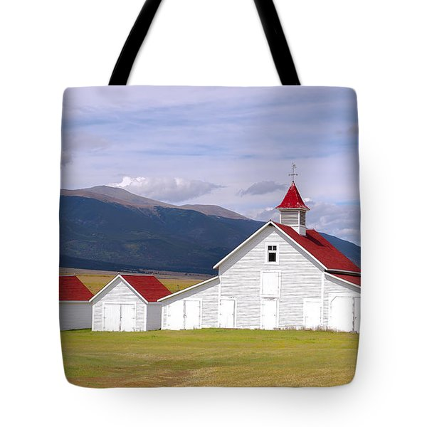 Tote Bag featuring the photograph Rustic Farm Setting by Tim Reaves
