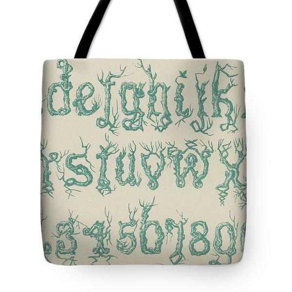 Rustic Font Tote Bag
