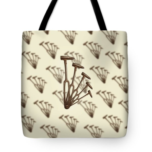 Tote Bag featuring the photograph Rustic Hammer Pattern by YoPedro