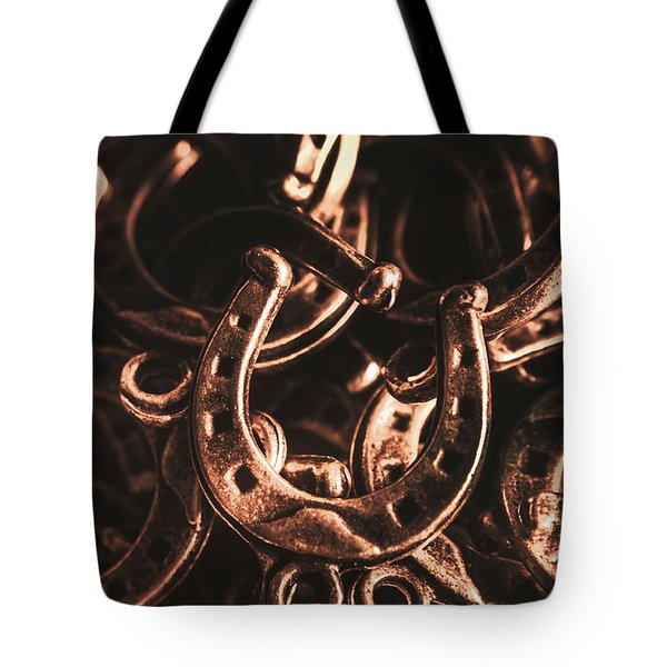 Rustic Horse Shoes Tote Bag