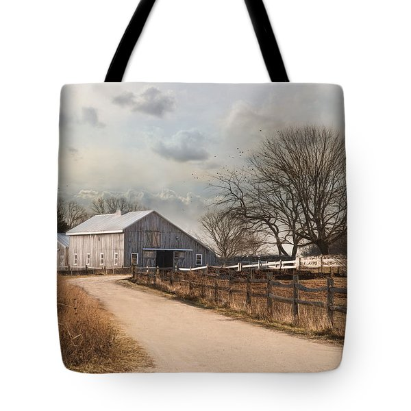 Tote Bag featuring the photograph Rustic Lane by Robin-Lee Vieira