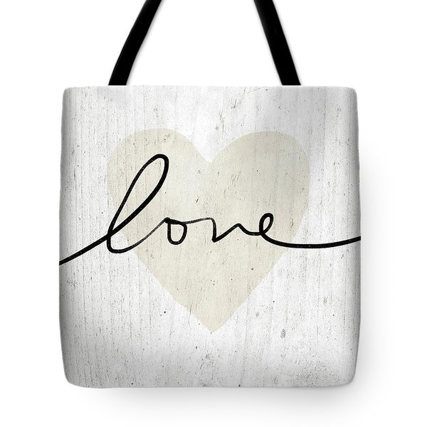 Tote Bag featuring the mixed media Rustic Love Heart- Art By Linda Woods by Linda Woods