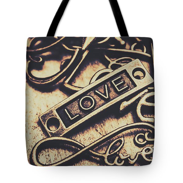 Rustic Love Icons Tote Bag