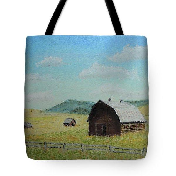 Rustic Montana Barn Tote Bag