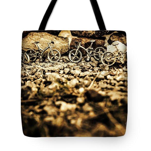 Rustic Mountain Bikes Tote Bag