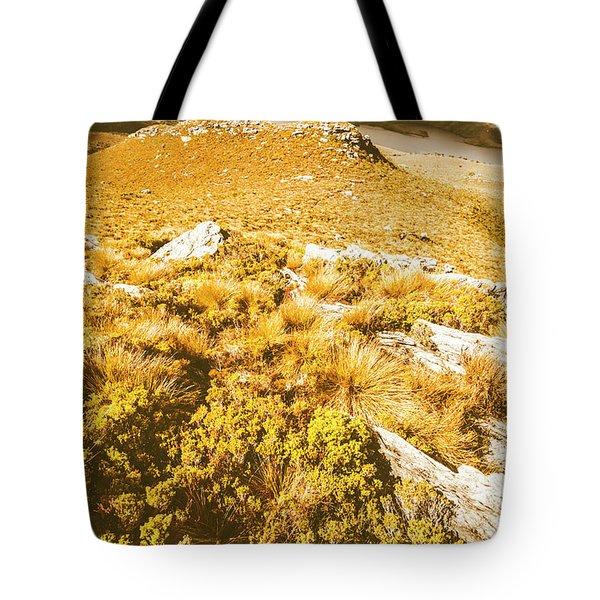 Rustic Mountain Terrain Tote Bag