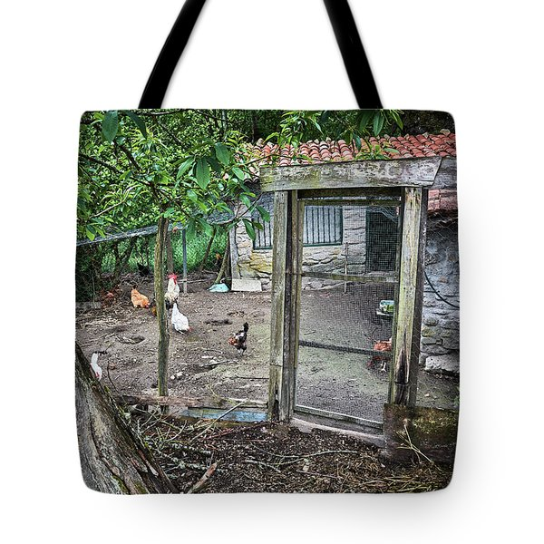 Tote Bag featuring the photograph Rustic Old House In Galicia by Eduardo Jose Accorinti